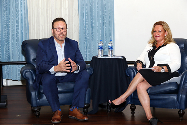 David Pizzo, market president for Florida Blue and Bridgette Bello, CEO and publisher for Tampa Business & Wealth magazine.