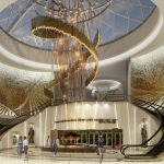 Sweeping escalators and a chandelier planned for the lobby of the Seminole Hard Rock Resort and Casino in Tampa