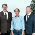 ►Berkshire Hathaway HomeServices Florida Properties Group has a new partnership with Tampa Bay luxury home builder Marc Rutenberg; shown are Dewey Mitchell, Marc Rutenberg and Allen Crumbley.