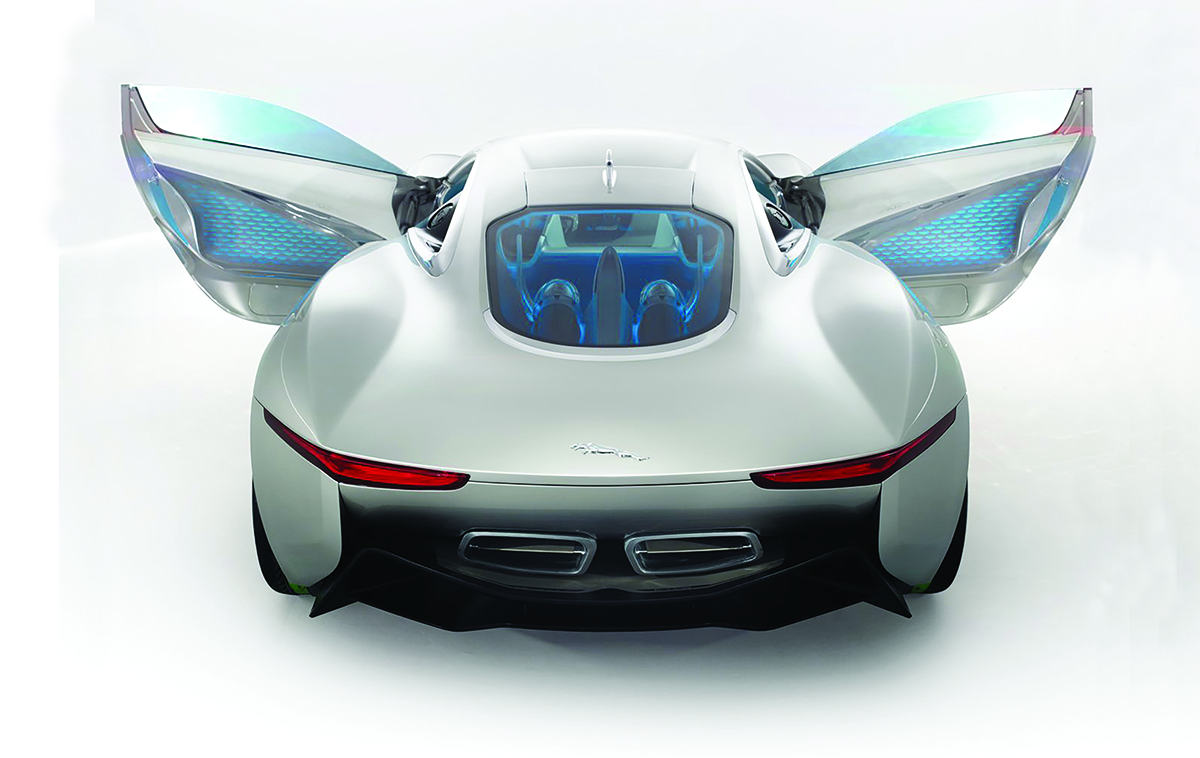 Jaguar's most advanced design The Jaguar C-X75 was originally debuted at the 2010 Paris Auto Show. Starting at $1.48 million, this is said to be the car company's most advanced design. The model was featured in the 2015 film Spectre, a James Bond film.
