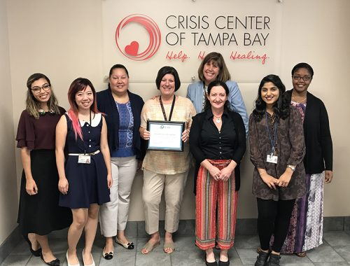 ►The Crisis Center of Tampa Bay's Sexual Assault Services has been recertified for a two-year term to serve as the sole provider of forensic sexual assault victim services in Hillsborough County for ages 13 and up.