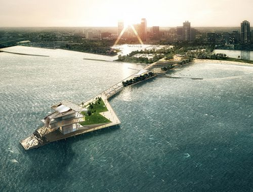 A rendering of The St. Pete Pier in St. Petersburg