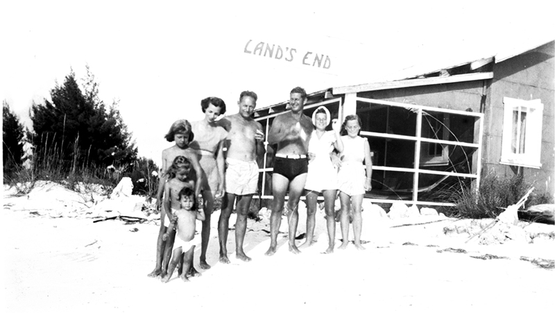 Michael and family at Land's End