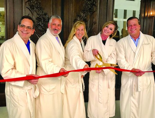 ►The Woodhouse Day Spa in downtown St. Petersburg had its ribbon cutting with owner Ginger Lettelleir, St. Petersburg Area Chamber of Commerce President Chris Steinocher and St. Pete Mayor Rick Kriseman on hand.