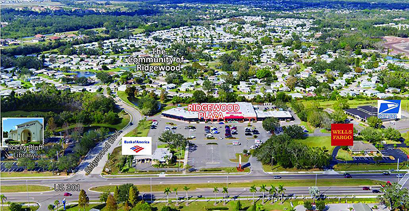 ►Egg Rock LLC purchased Ridgewood Plaza, a 42,000-square-foot shopping center located at 7016 US 301 N., Ellenton for $5,925,000.