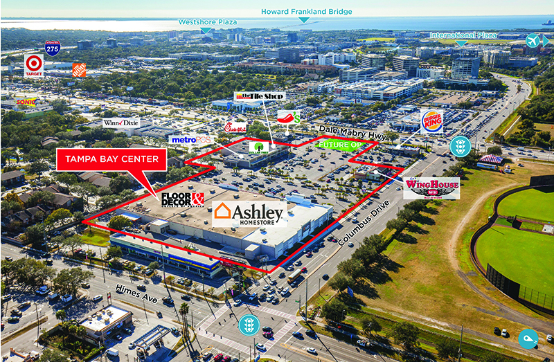 ►Cushman & Wakefield negotiated the sale of Tampa Bay Center, a 142,350-square-foot urban infill shopping center in Tampa's Westshore Business District, anchored by Ashley Furniture HomeStore and Floor & Décor.