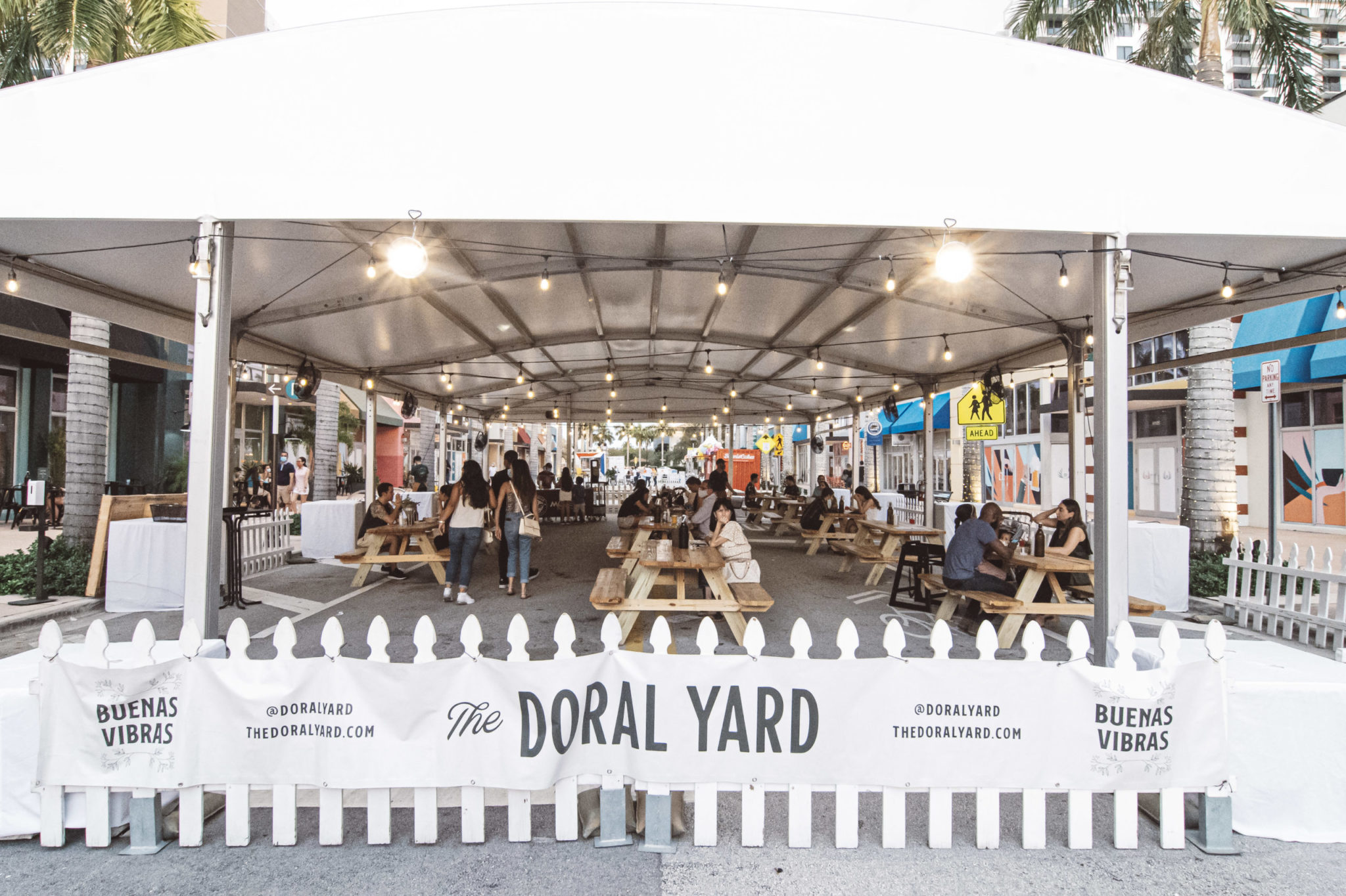 The Doral Yard tent on Main Street by Rod Deal